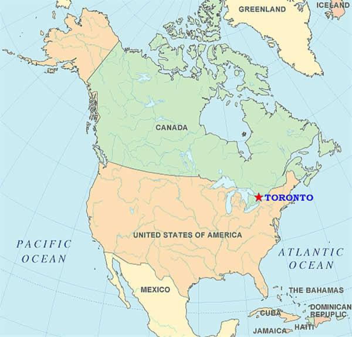 Toronto Din Statele Unite Ale Americii Hartă Harta Din Toronto